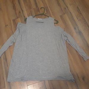 3X Open Shoulders Shirt